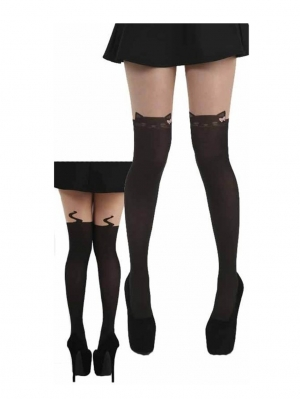 Over the knee Cat tights