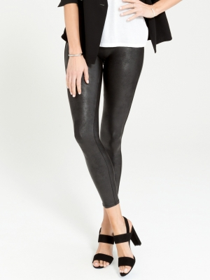 Cropped Faux Leather Leggings