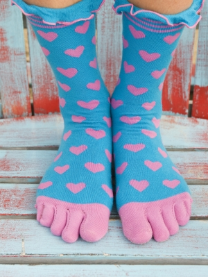 Candy Heart Toe Sock