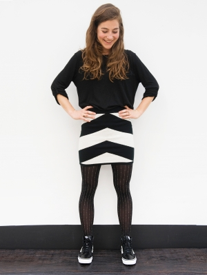 Big Herringbone Skirt