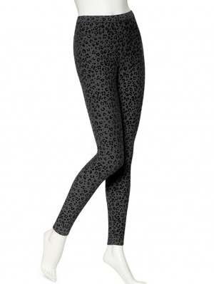Flocked Print Legging