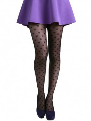 All Over Bow Sheer Tights