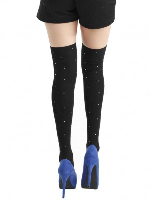 Over Knee Socks with Diamante