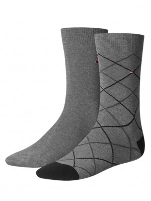 2 Pack Men Tattersall Sock
