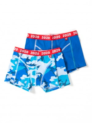 2-Pack Boxer Boys Army & Blue