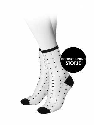 Women Dot Sock Transparant