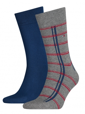 Window Check Sock 2-Pack