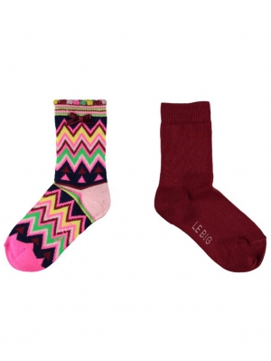 Zigzag Girls Sock 2-Pack