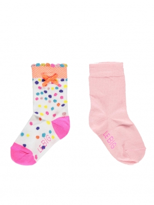 Small Dot Girls Sock 2-Pack