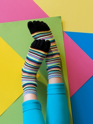 Fun Stripes Toe Sock