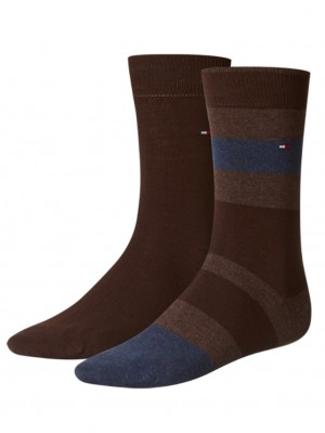 2 Pack Men Blocked Sock