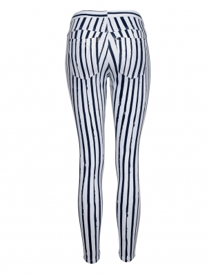 Leggings Stripe Original Denim Capri
