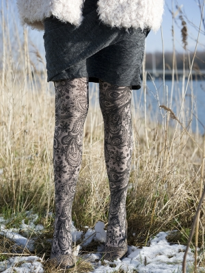 Intricated Flowers Tights