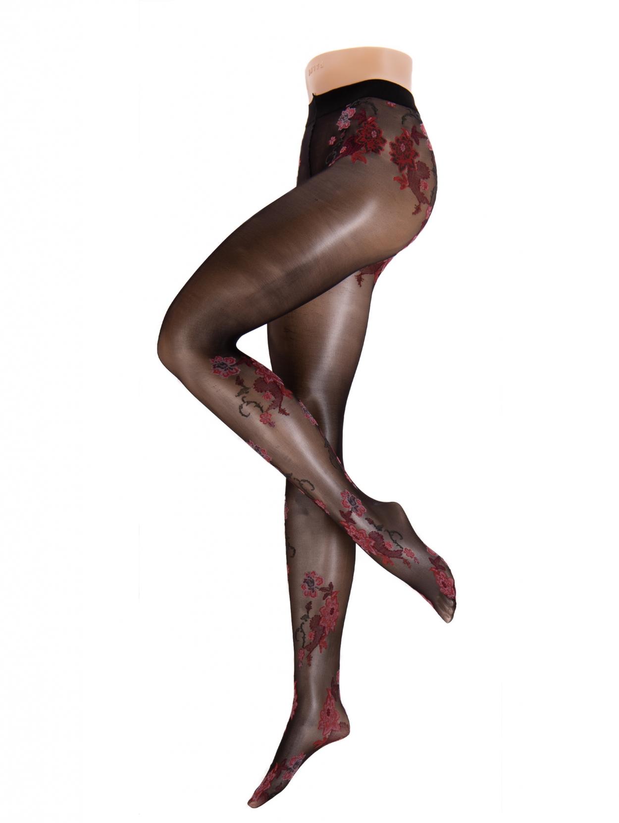 9886c8deca5 Hudson | Floral Tights | Fashion Panty | Zwarte Panty | Bloemen - 001676