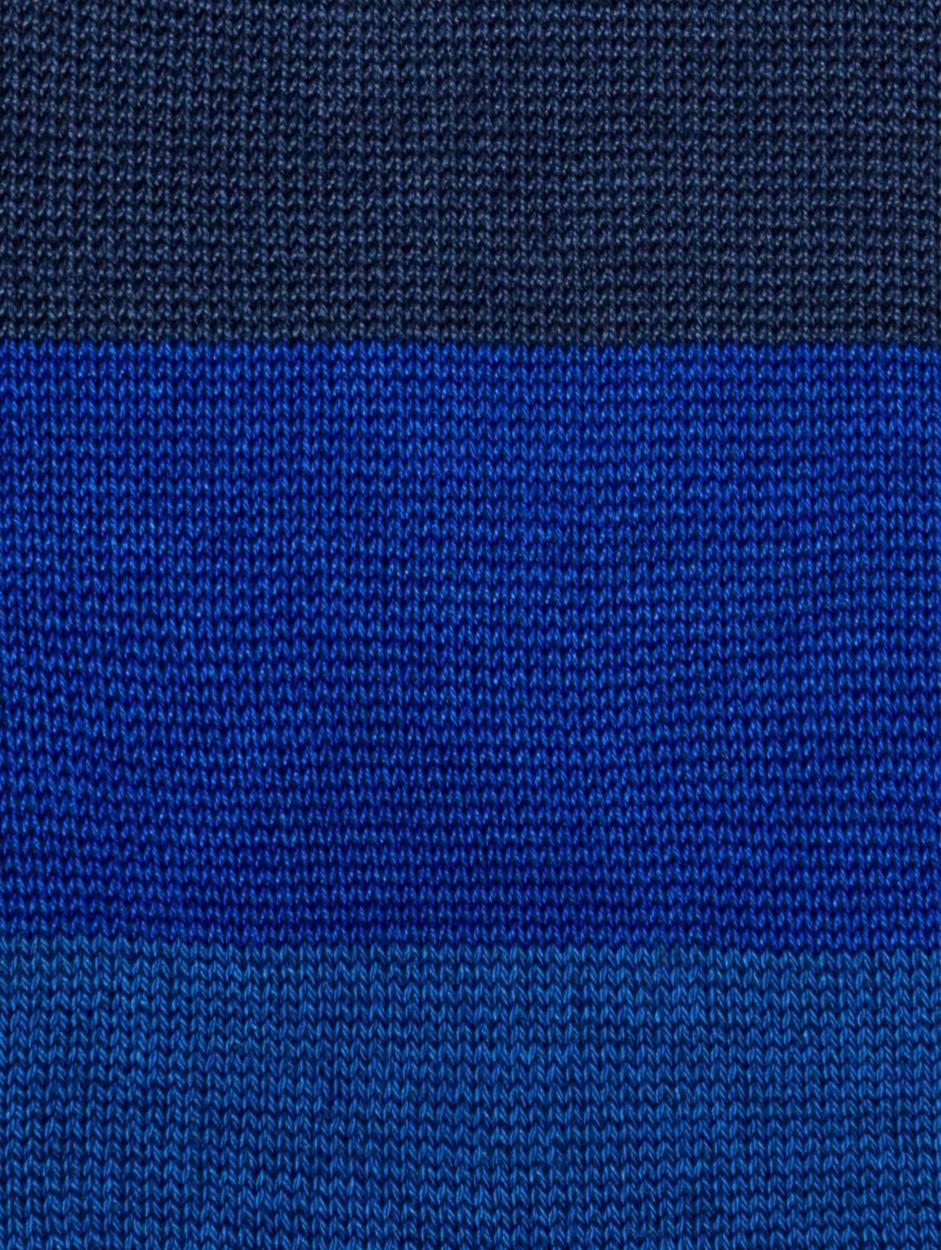 Navy And Blue Tonal Stripe Sock