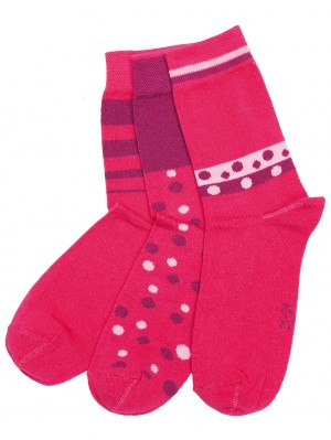 Kids Sock Pink (3 pack)