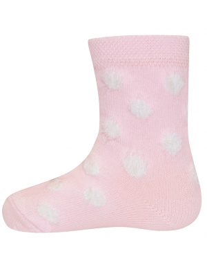 Baby Fluffy Dots Sock
