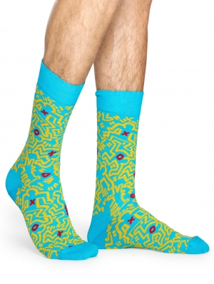 Keith Haring All Over Sock NEW