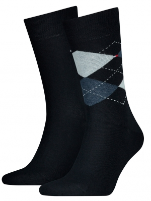 2 Pack Men Sock Check