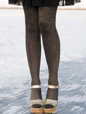 Cotton-Lurex Tights