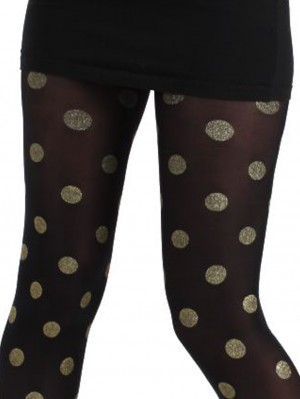 Gold Foil Spotted Tights