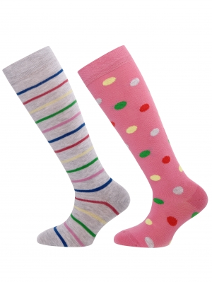 Stripes And Dots Knee High 2-Pack
