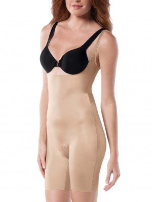 Slimplicity Open Bust Mid-Thigh Bodysuit