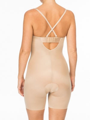 Suit Your Fancy Mid-Thigh Bodysuit Cupped