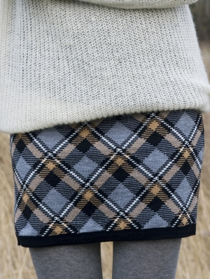 Plaid Checks Skirt