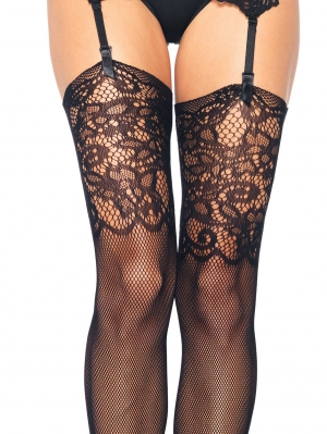 Fishnet Stockings Lace Top