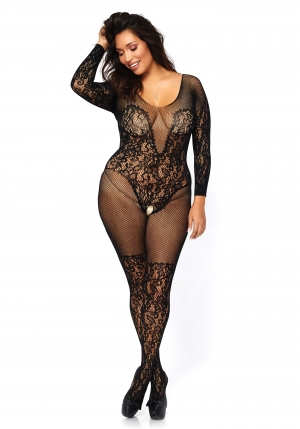 Lace And Net Bodystocking