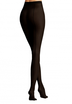 Logo Script Backseam Tights