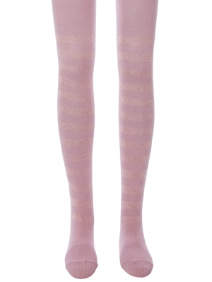 Girls Glitter Stripe Tights