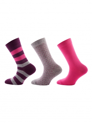 Stripes Dots Sock 3-Pack