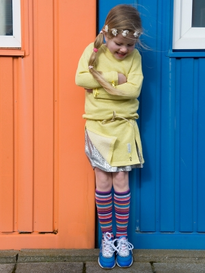 Bright Stripes Knee-High