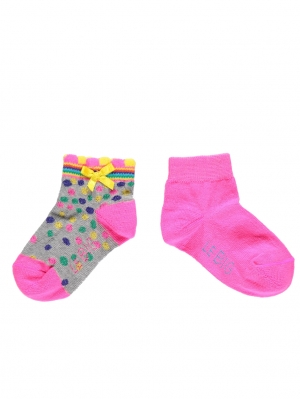 Irregular Dot Short Sock 2-Pack