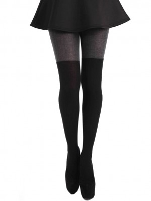 Half Over the Knee Wool Tights