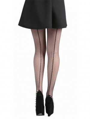 Fishnet Seamed Tights