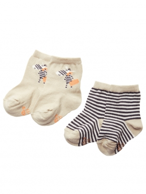 2-Pack Fun Zebra Sock