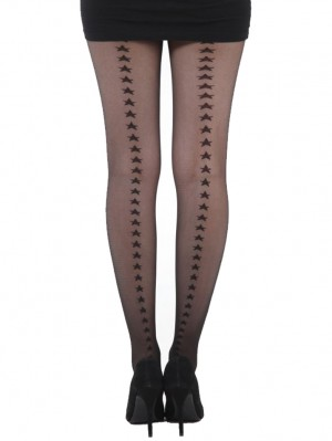 Star Back Seam Sheer Tights