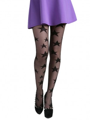All Over Sheer Star Tights