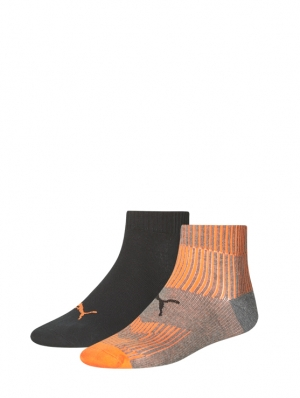 Gradient Rib Quarter Sock 2 Pairs