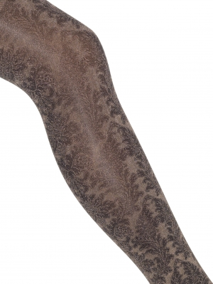 Shiny Damask Tights