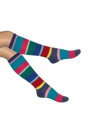 Cocktail Stripe Knee-High
