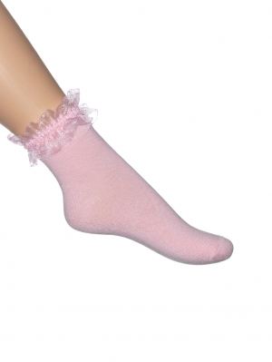 Ruffled Organza Sock