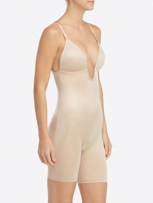 Suit Your Fancy Mid-Thigh Bodysuit Plunge