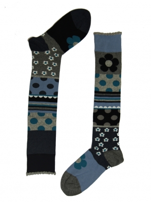 Patchwork Knee-High