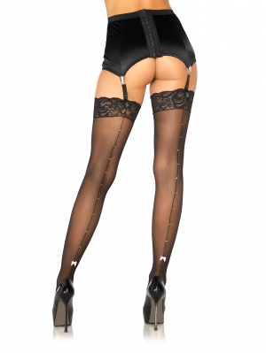Stockings Rhinestone Backseam
