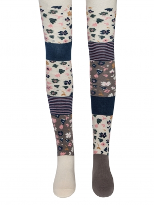 Flipside Flowers and Stripes Tights