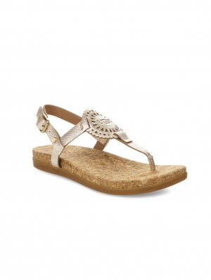 Womens Ayden Sandals Metallic